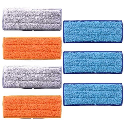 FiYenn 7 Stück Waschbare&Wiederverwendbare Mopps Pads,3 Stück Nasswischtücher, 2 Stück Feuchtwischtücher,2 Trocke Wischtuch für iRobot Braava Jet 240 241