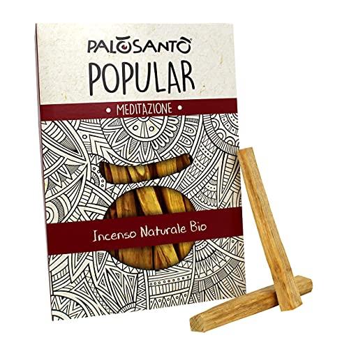 Palo Santo Incienso Natural - PALOSANTO Madera Sagrada - Palitos Popular Ayabaca - 9 Palitos - Producido de Forma Etica y Sostenible - Aroma para Yoga, meditación, relajación