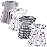Hudson Baby Girl's Cotton Dresses, Moon And Back, 2 Toddler