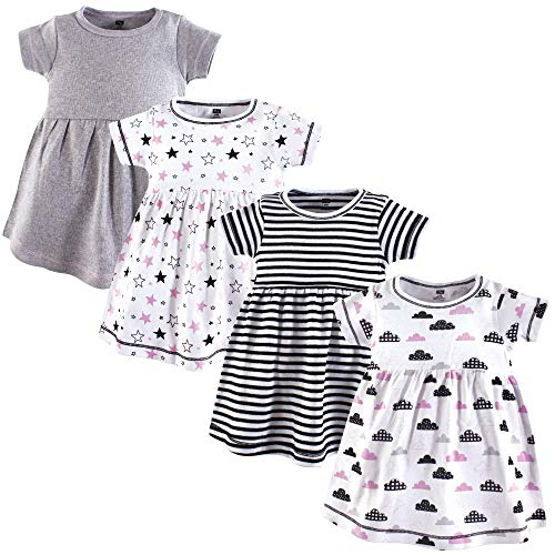Hudson Baby Baby Girls' Cotton Dresses, Moon and Back, 3 Toddler