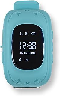 ASYmaxx 带 GPS 功能的儿童智能手表| 带 GPS、SOS 电话、定位、跟踪器功能且适合男孩和女孩佩戴的智能手表  | 可以在无手机时使用的电子数字手环 [蓝色]