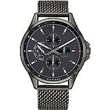 Tommy Hilfiger Herren Multi Zifferblatt Quarz Uhr mit Edelstahl Armband 1791613