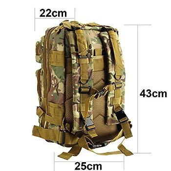 Youyijia Militaire Sac a Dos Militaire 30L Armée Sac À Dos Assaut Pack Tactique Combat Sac À Dos pour Randonnée en Plein Air Camping Randonnée Pêche Chasse(Camouflage)