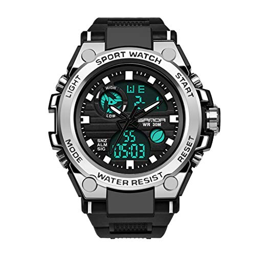friendGG Uhren Sanda Herren Sportuhr Dual Display Analog Digital Led Elektronische Armbanduhren Uhren Herrenuhren