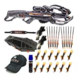 Ravin Crossbows R29 430 FPS Predator Deluxe Hunter's Crossbow Bundle (Dusk Grey) with Hard Case, 12 Upgraded Arrows, and Accessory Bundle