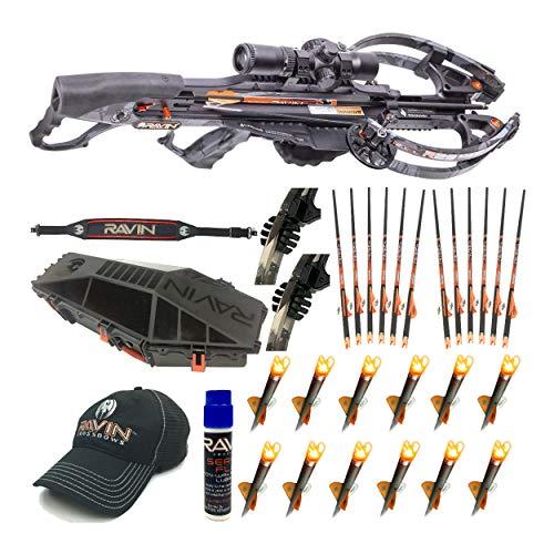 Ravin Crossbows R29 430 FPS Predator Deluxe Hunter's Crossbow Bundle (Dusk Grey) with...