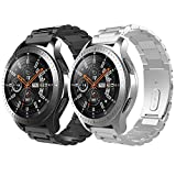 TiMOVO Pulsera Compatible con Galaxy Watch 46mm/Gear S3 Classic/Gear S3 Frontier, [2-Pack] Pulsera...