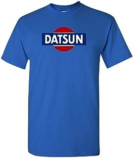 Datsun White Retro Logo T-Shirt New! Tee 240z 260z 280z ZX 510 Fairlady (L, Royal Blue)