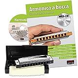 Cascha HH 1600 IT - Set blues armónica con manual en italiano