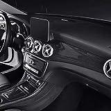 SHES Fibra de carbono Estilo ABS Coche Consola central Aire acondicionado Panel Decoración ABS Para GLA X156 CLA C117 2013-19