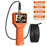 ROTEK Digital Inspection Camera, 3.0 Inch 1080P Full HD IPS LCD Screen, 3.0 Megapixels Industrial Endoscope...