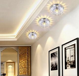 3w LED Plafonnier Cristal Lampe murale éclairage plafonnier blanc chaud