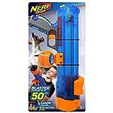Nerf Dog - Pistola translúcida de 16 pulgadas con clip de bola, azul/naranja/gris