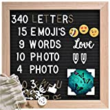 Gadgy  Retro Felt Letter Board | With 15 Emoji's, 10 Photo Clips, 4 Photo Corners, 340 Gold & White Letters...