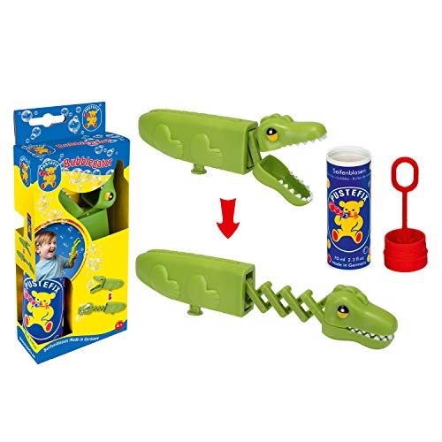 Pustefix Bubblegator I 70ml Seifenblasenwasser I Bubbles Made in Germany I Aligator Seifenblasen Spielzeug für Kindergeburtstag, Sommerfest, Hochzeit & als Gastgeschenk I Spaß für Kinder & Erwachsene