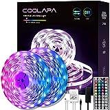 Tira Led 10M, COOLAPA Tira Luces LED, 12V 5050 SMD RGB, Cont