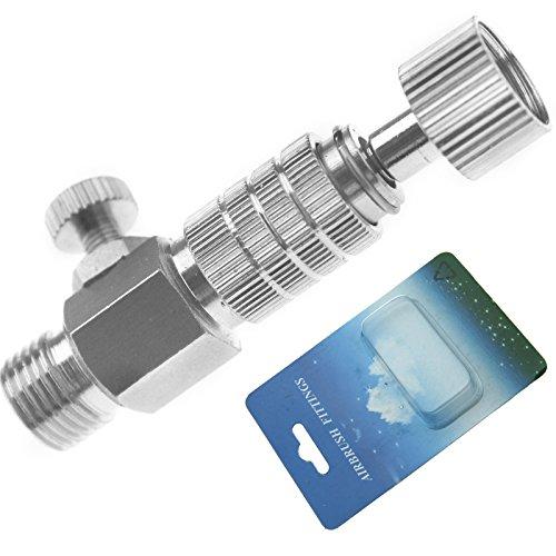 ENET Adaptador de válvula de ajuste de aire de 1/8 pulgadas de 1/8 pulgadas de desconexión rápida