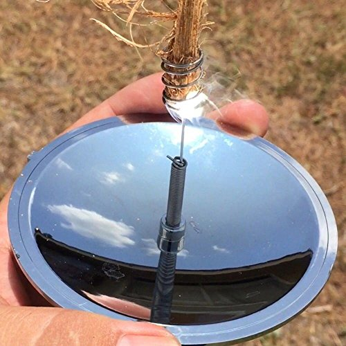 GGG Solar-Feueranzünder für Outdoor, Camping, Wandern, Solar-Feuerzeug, winddicht und wasserdicht, leicht, Notfall-Überlebenswerkzeug