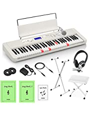 CASIO LK-520 光ナビゲーションキーボード 61鍵盤 白スタンド・白イス・ヘッドホンセット カシオ