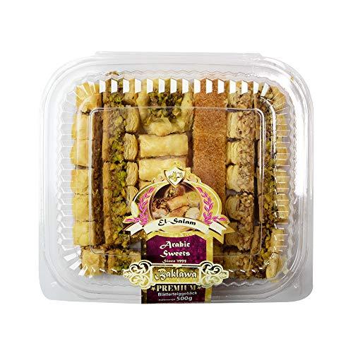 Baklava (Baklawa) Premium-Mix, Blätterteig-Gebäck gefüllt mit Nüssen (500 g)
