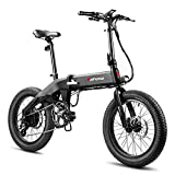 Eahora X6 20 Inch Folding Electric Bicycle 48V 13Ah Electric Bike Removable Lithium-ion Battery 350W City Commuter Ebike for Adults E-PAS Recharge System 8 Speed