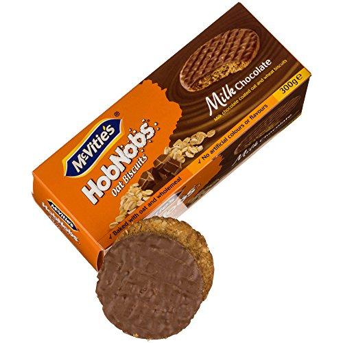 McVitie's HobNobs - Biscotti integrali con farina d'avena ricoperti di cioccolato al latte - 300g