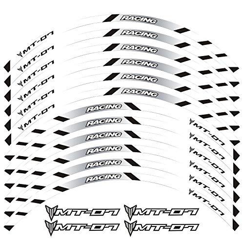Etiqueta engomada reflectante de las motocicletas para motocicletas Pegatinas de ruedas para TRACER 700 900 850 MT07 MT09 MT-07 MT-09 (Color : 2)