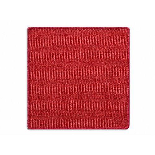Floori® Sisal Kratzteppich | Naturfaser: nachhaltig und umweltfreundlich | Kratzmatte für die Krallenpflege Ihrer Katze | Rot, 60x80cm