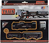 Toy Creations Remote Control Train & Track Set with Sound & Light Toy for Kids (Black Train)