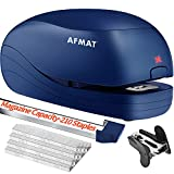 Electric Stapler, Automatic Stapler for Desk, Electric Stapler Desktop, AC or Battery Powered Stapler Heavy Duty, with Reload Reminder & Release Button, 25 Sheets Capacity, Blue