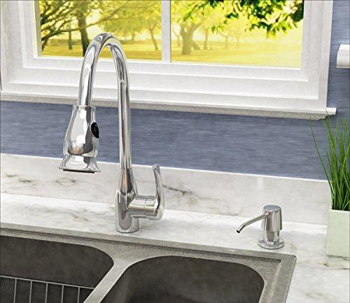 Ultimate Kitchen Best Stainless Sink Soap Dispenser Polished LARGE w// BOTTLE