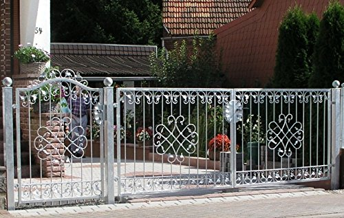 Gartentor Hoftor Tor Metall Schmiedeeisen Monaco-GFT500/100 Verzinkt