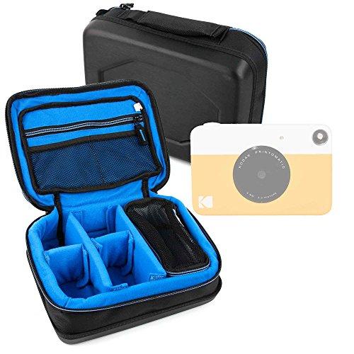 DURAGADGET Bolsa Acolchada Profesional Negra con Compartimentos para Cámara instantánea Kodak Printomatic
