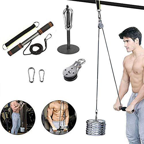 FBSPORT Carrucola Palestra LAT Machine, Rullo da Polso per l'allenamento in Palestra a Casa, Puleggia Palestra per l'Allenamento della Forza del Braccio Pulldown Bodybuilding