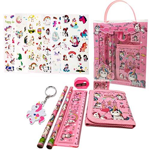 Set de Papelería Unicornio Estuche Unicornio Set de Papelería Set de Papelería Kawaii Set de Papelería Para Niñas Regalos de Unicornio Kit Material Escolar Set Papelería Infantil (1)
