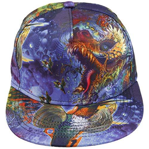 Samtree Unisex Snapback Hats,Adjustable Printed Hip Hop Flat Bill Baseball Cap (Dragon)