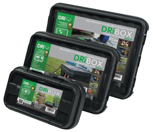 DRiBOX FL-1859-B3 - Cassetta antintemperie, IP55, 3 pezzi, colore: Nero