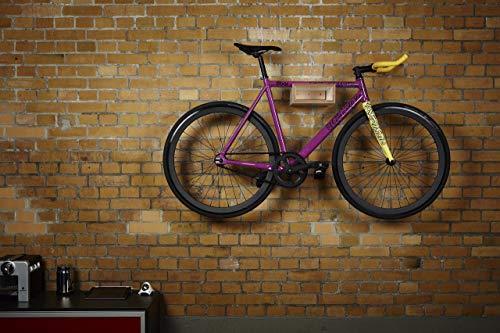 Fahrrad Wandhalter Hikee, Fahrradregal, Wandhalterung in elegantem Design, Holz, Natur