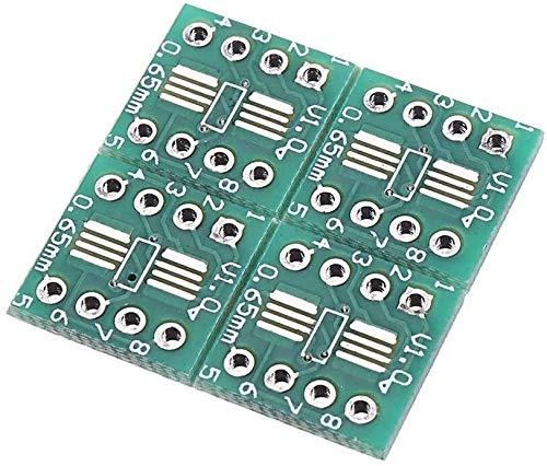 FORETTY DIANLU43 Placa adaptadora de la Placa de la Placa de PCB del módulo PCB de 20pcs TSSOP8 SSOP8 SOP8 a DIP8 Herramientas de carpintería Rendimiento Estable