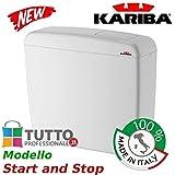 Cassetta universale WC KARIBA SUPER ECO Start and Stop made in italy universale esterna