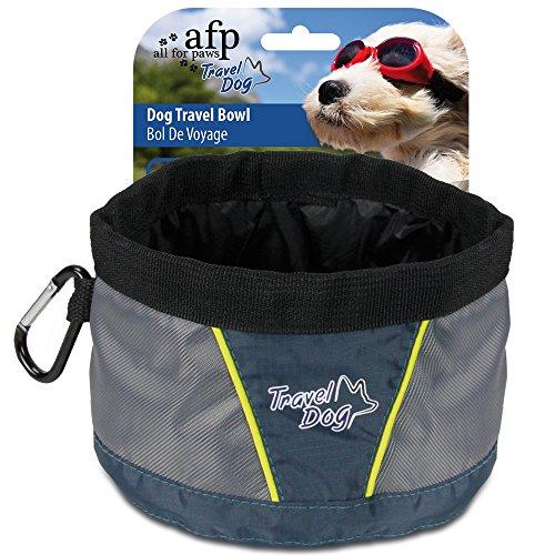 All for Paws 33996/1572 Travel Bowl - water- en reistas gemaakt van stevig materiaal grijs-zwart