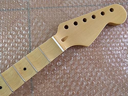 chudana Full Scalloped Maple Rosewood Fingerboard Guitar Neck Replacement 22 Fret Maple 1pcs Electric Guitar Neck (Size : 30 Inches)