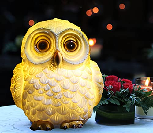 Outdoor Lights Garden Decoartive, Owl Solar LED Lights, Solar Decorative LED Animals for Garden, Outdoor Figurines Lamps Waterproof, for Patio Yard Pathway Decor Lawn Ornaments