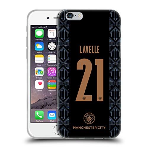Head Case Designs Oficial Manchester City Man City FC Rosa Lavelle 2020/21 Carcasa de Gel de Silicona Compatible con Apple iPhone 6 / iPhone 6s