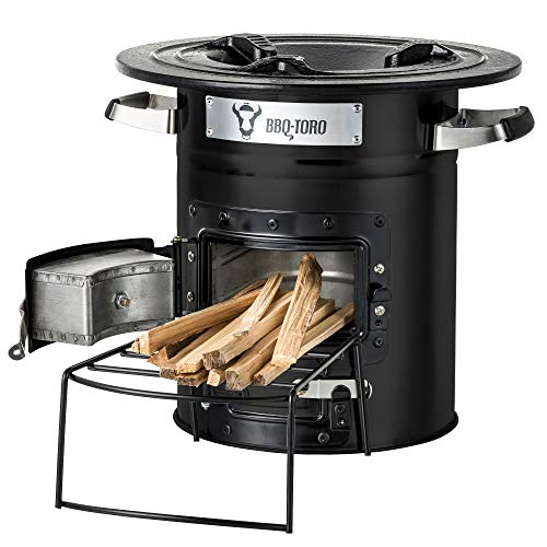 BBQ-Toro Rocket Furnace Rocket #2 I Rocket Stove for Dutch Oven, Grill Pans and much more (balck)