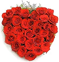 RomanticVIBES Flowers Bouquet Fresh Roses I Valentine Gift for Girlfriend I Valentine Gift for Boyfriend I Gift for Girls I Wedding Gift for Couples (50 Fresh and Real Red Roses)