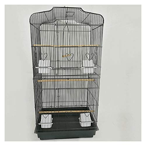 Jaulas de pájaros Jaula PáJaros con Soporte Suministros para Mascotas Grandes Caja de Aves de Hierro Forjado Accesorios para Periquitos para Loros Calma Pájaro Juguetes Camas Soporte Birdcage de jaula