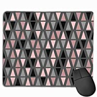 """Geometric Grey Blush And Coral Mouse Pad Non-Slip Rubber Gaming Mouse Pad Rectangle Mouse Pads for Computers Desktops Laptop 9.8"""" x 11.8"""""""