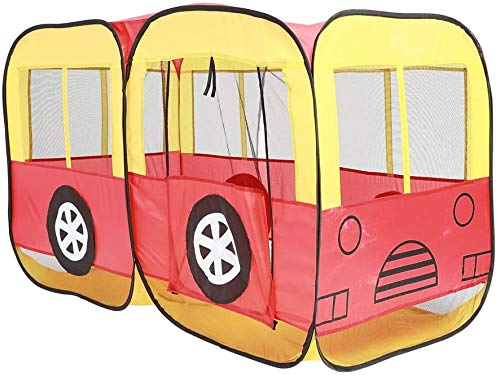 Children Toy Tent Play House Foldable Portable Bus Shape Game Tent Oversized Thick Dollhouse for Indoor and Outdoor,Multi Colored