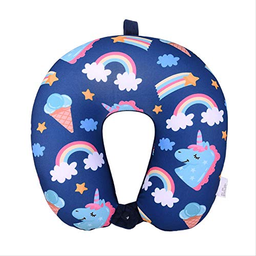 Chambre de Jeu Rainbow Fox Oreiller en Forme de U pour Enfants Enfants Voyages